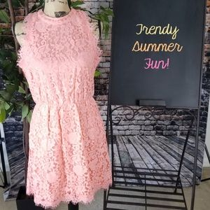 NWOT Forever 21 Sleeveless Floral Lace Dress